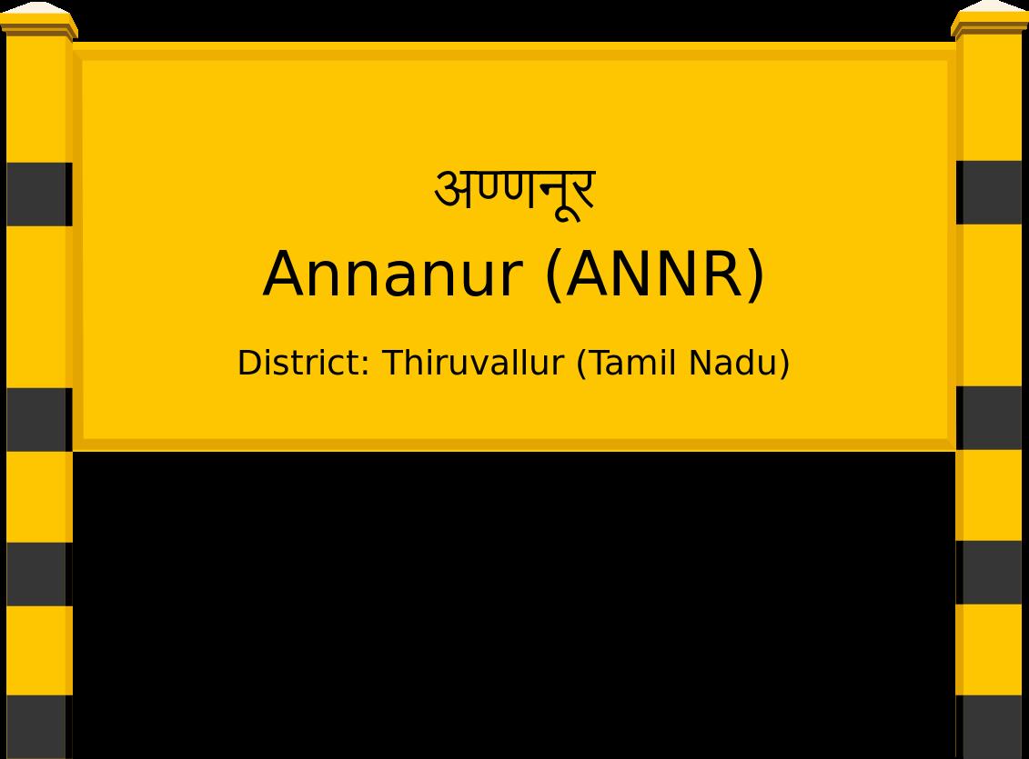 Annanur (ANNR) Railway Station