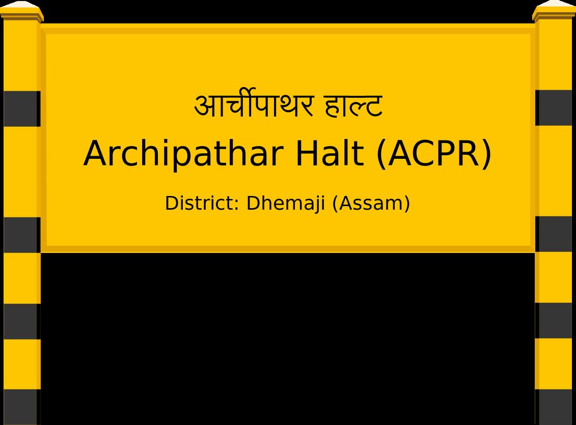 Archipathar Halt (ACPR) Railway Station