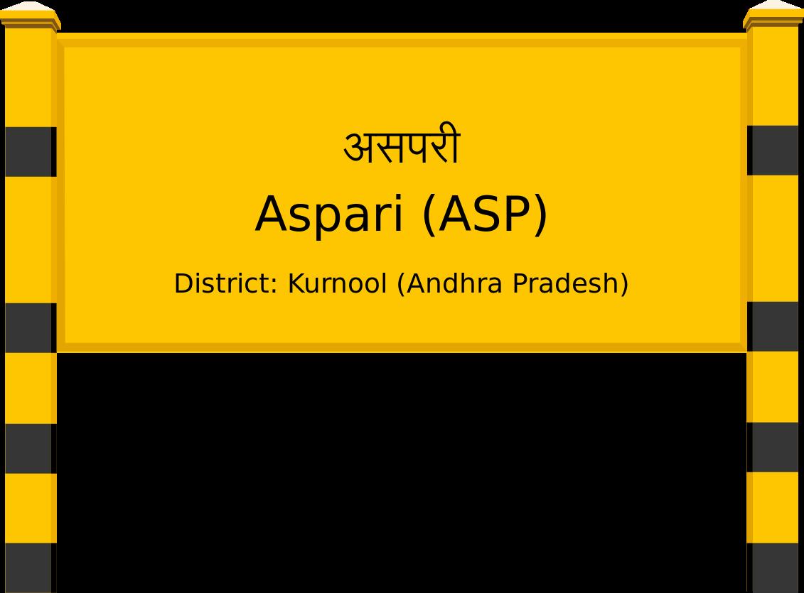 Aspari (ASP) Railway Station
