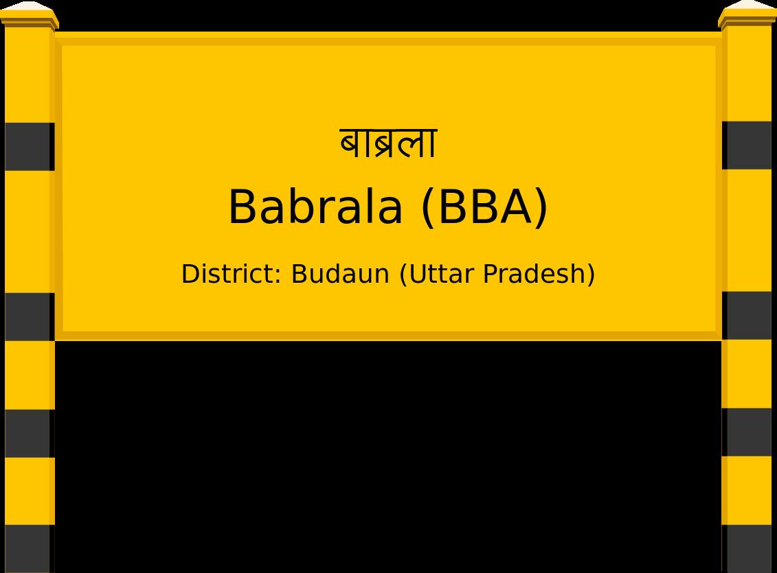 Babrala (BBA) Railway Station