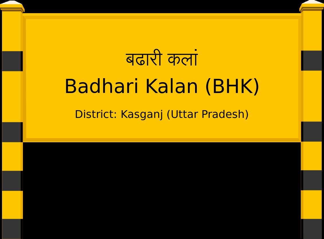 Badhari Kalan (BHK) Railway Station