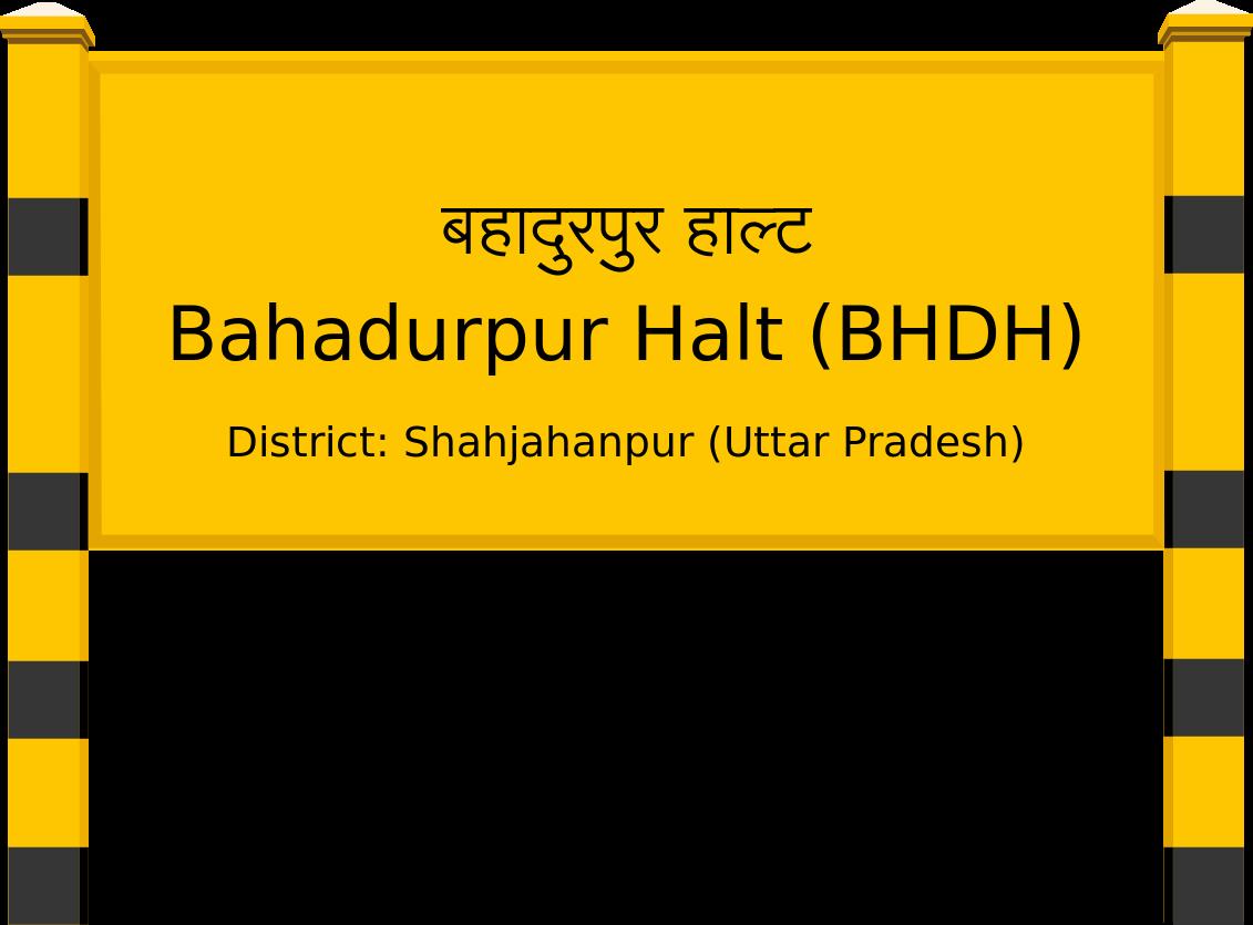 Bahadurpur Halt (BHDH) Railway Station