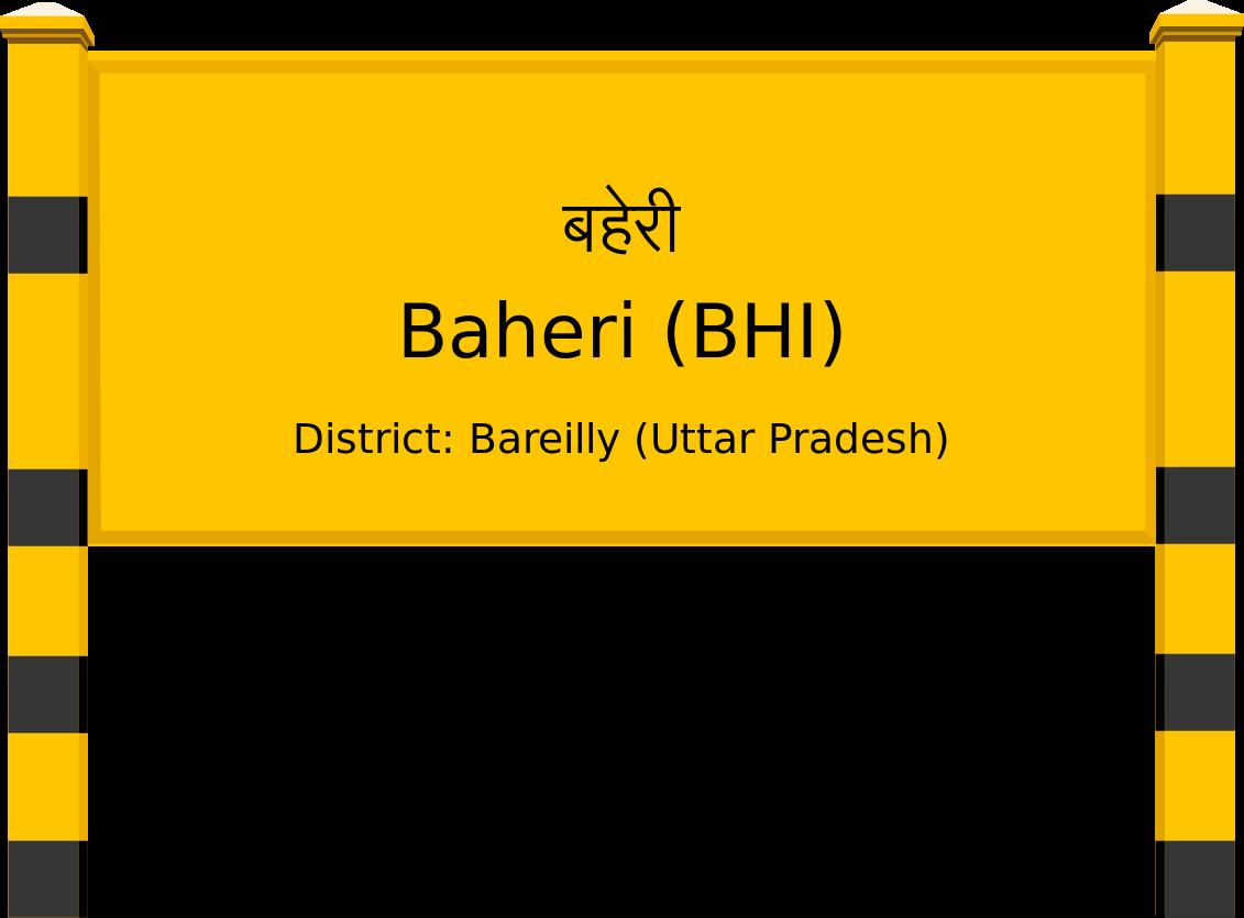 Baheri (BHI) Railway Station