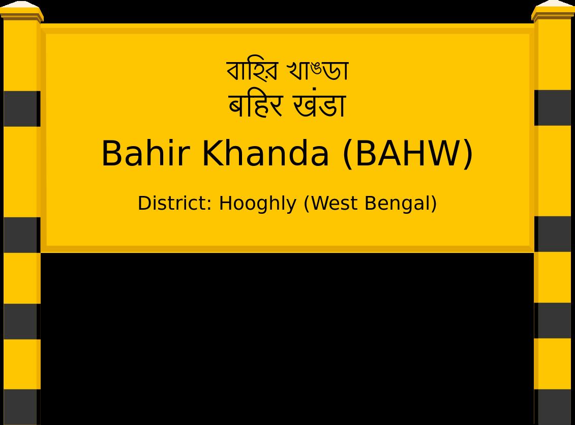 Bahir Khanda (BAHW) Railway Station
