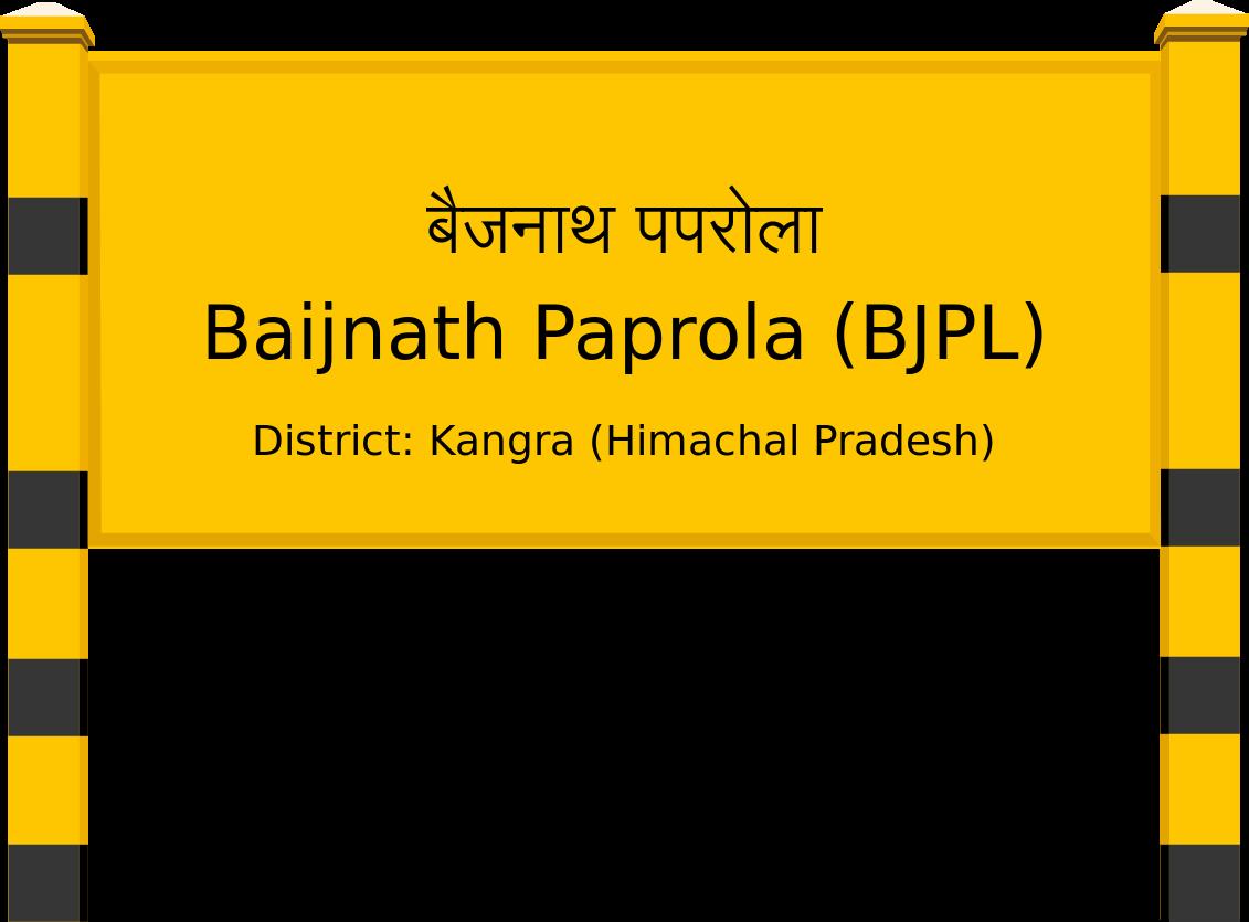 Baijnath Paprola (BJPL) Railway Station