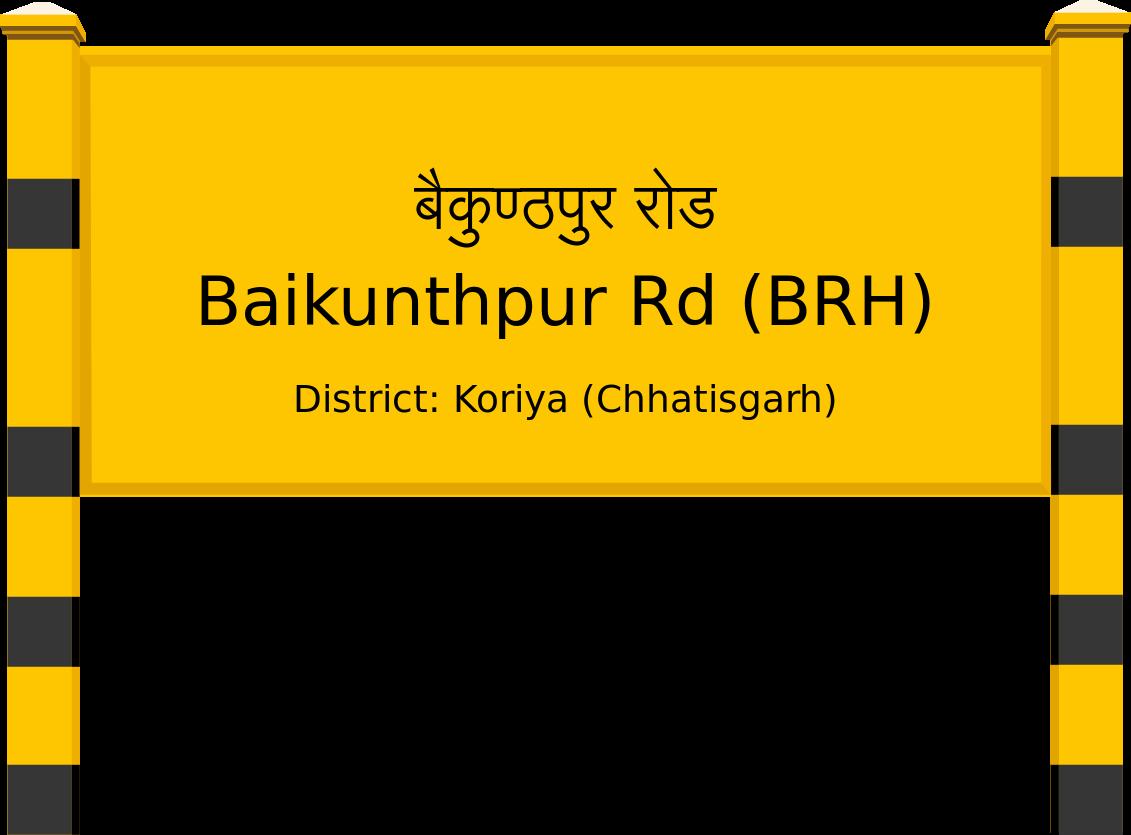 Baikunthpur Rd (BRH) Railway Station