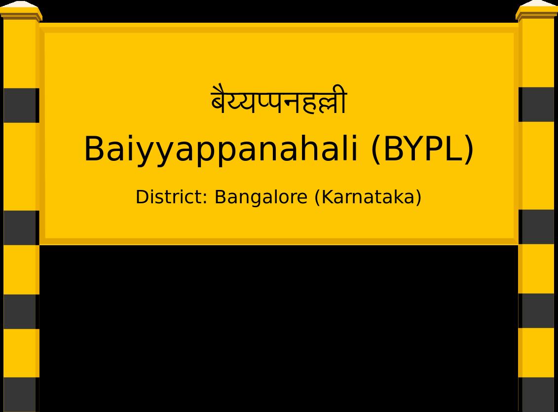 Baiyyappanahali (BYPL) Railway Station
