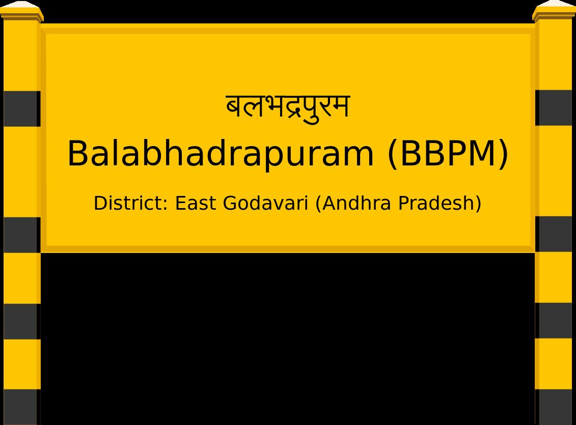 Balabhadrapuram (BBPM) Railway Station