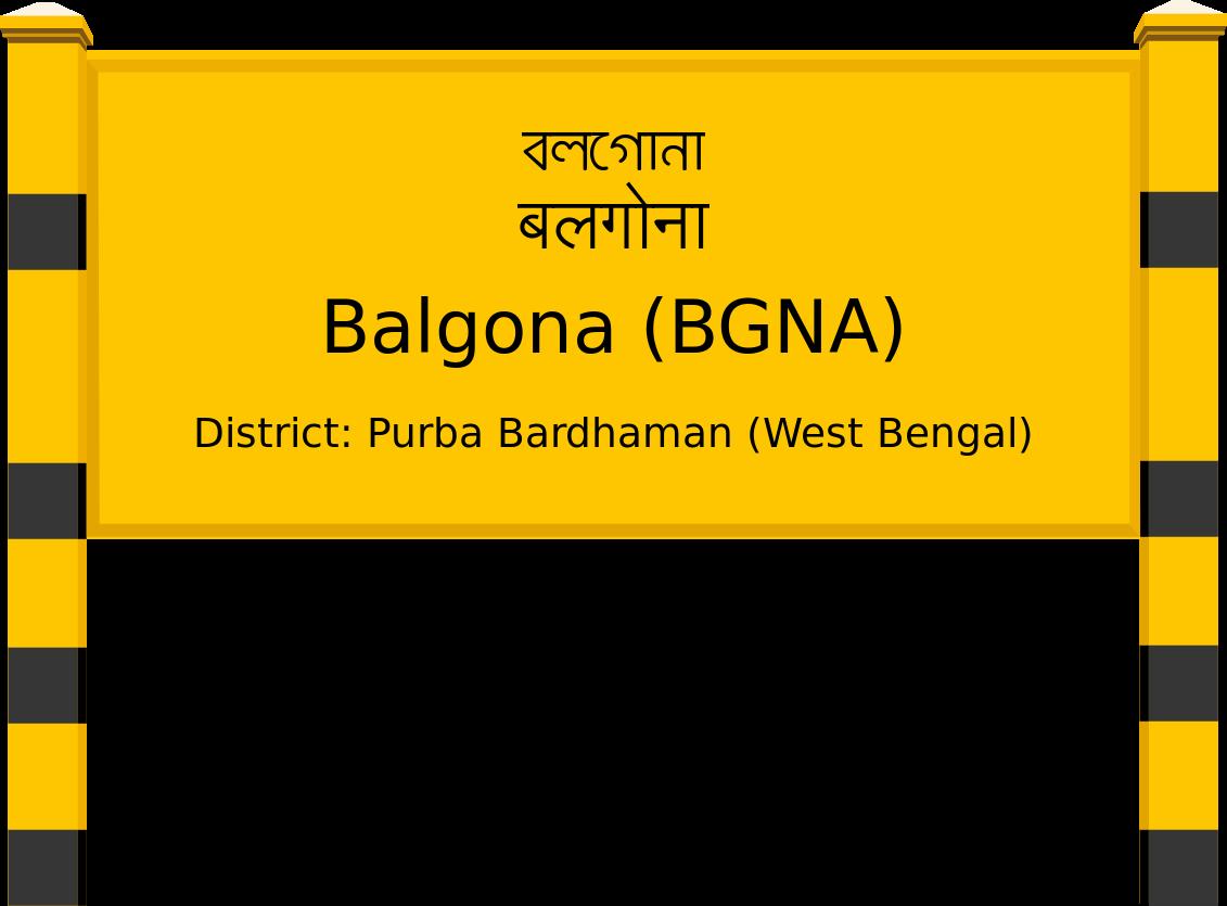 Balgona (BGNA) Railway Station
