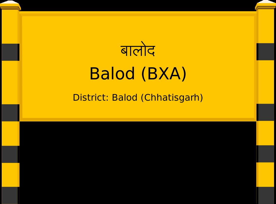 Balod (BXA) Railway Station