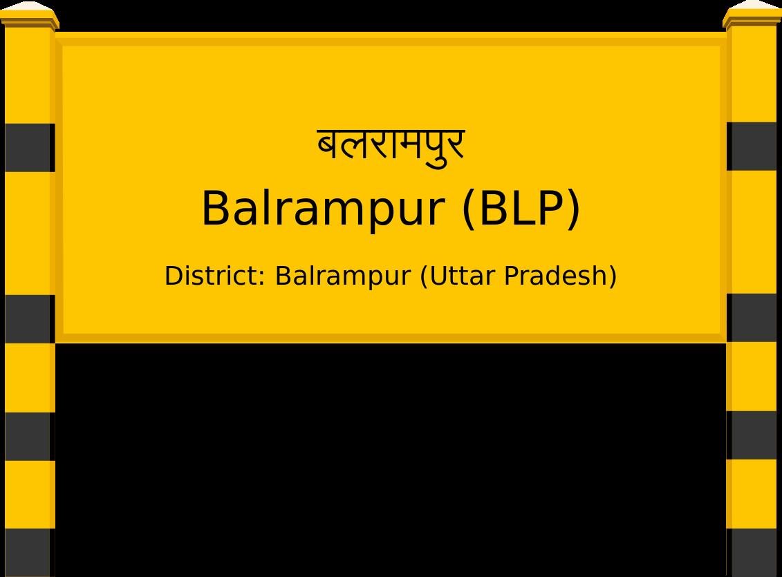 Balrampur (BLP) Railway Station