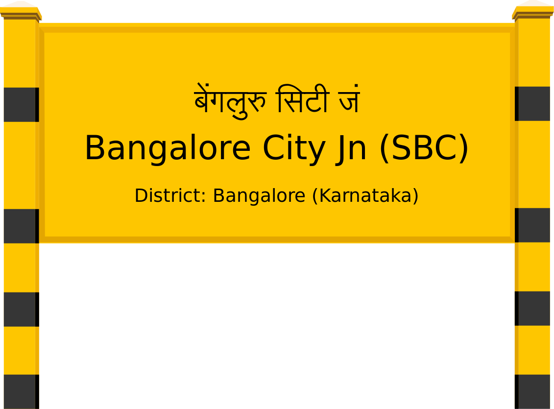 Bangalore City Jn (SBC) Railway Station