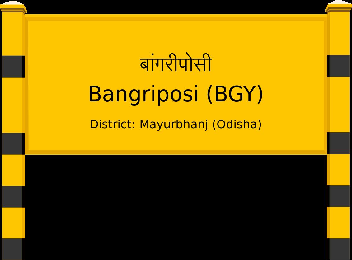 Bangriposi (BGY) Railway Station