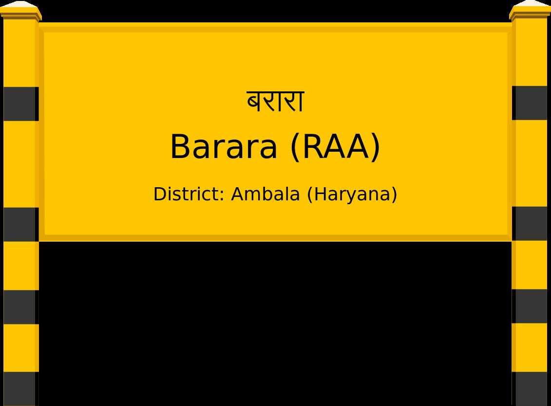 Barara (RAA) Railway Station