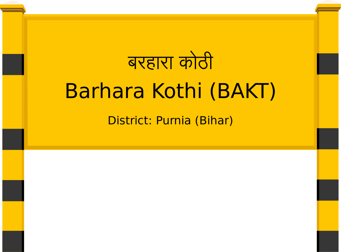 Barhara Kothi (BAKT) Railway Station