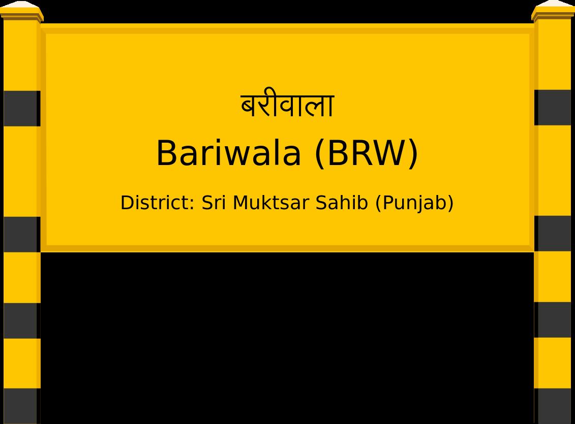 Bariwala (BRW) Railway Station