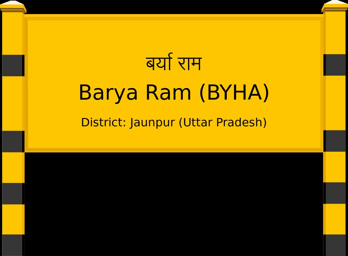 Barya Ram (BYHA) Railway Station
