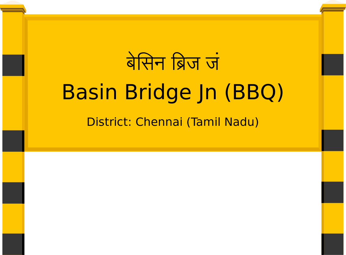 Basin Bridge Jn (BBQ) Railway Station