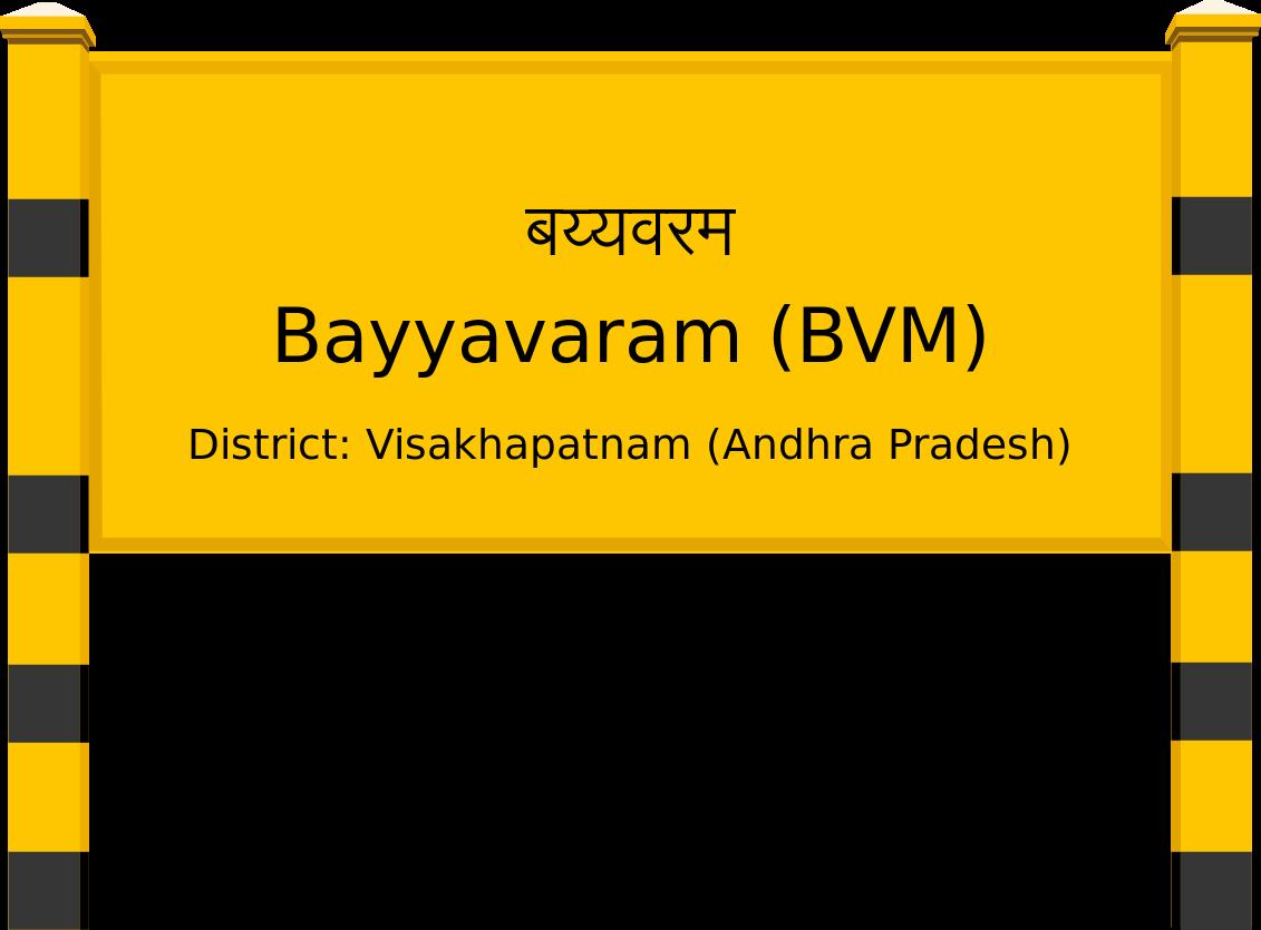 Bayyavaram (BVM) Railway Station