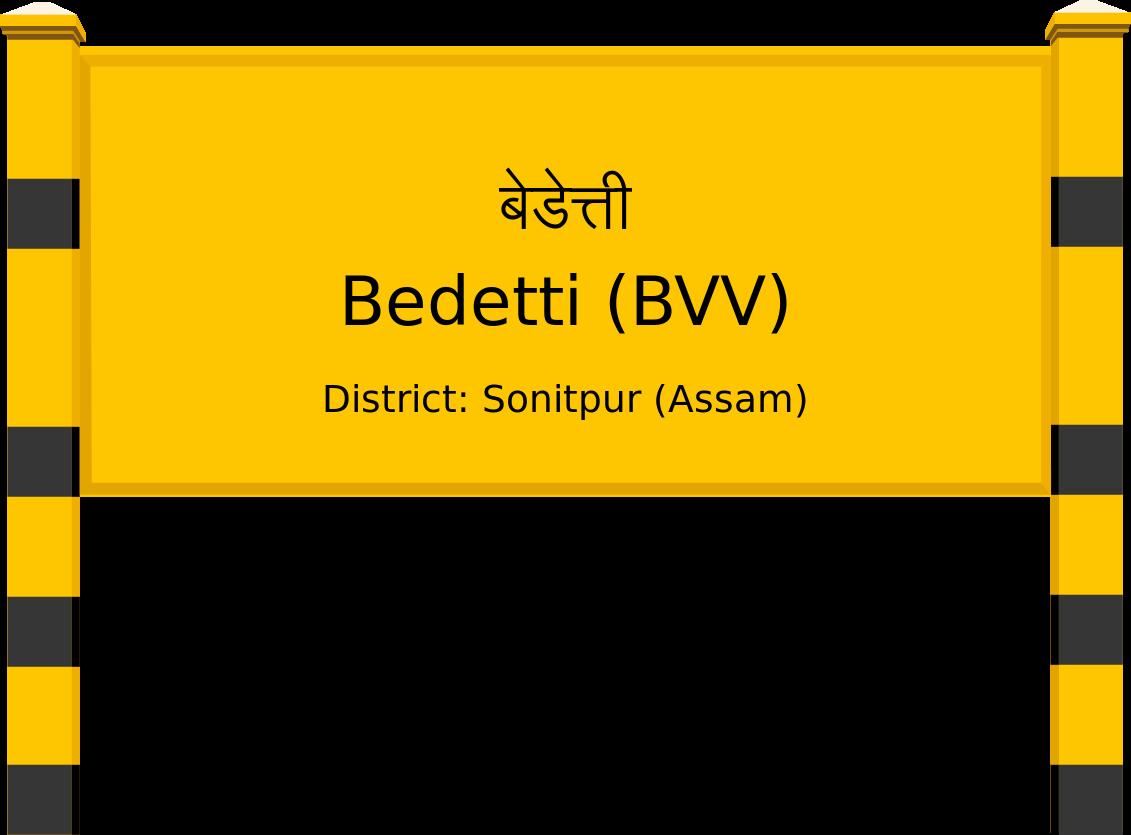Bedetti (BVV) Railway Station