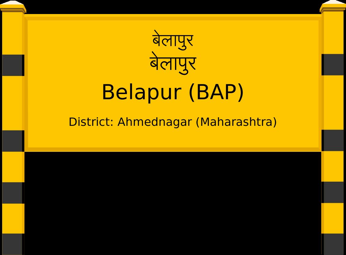Belapur (BAP) Railway Station