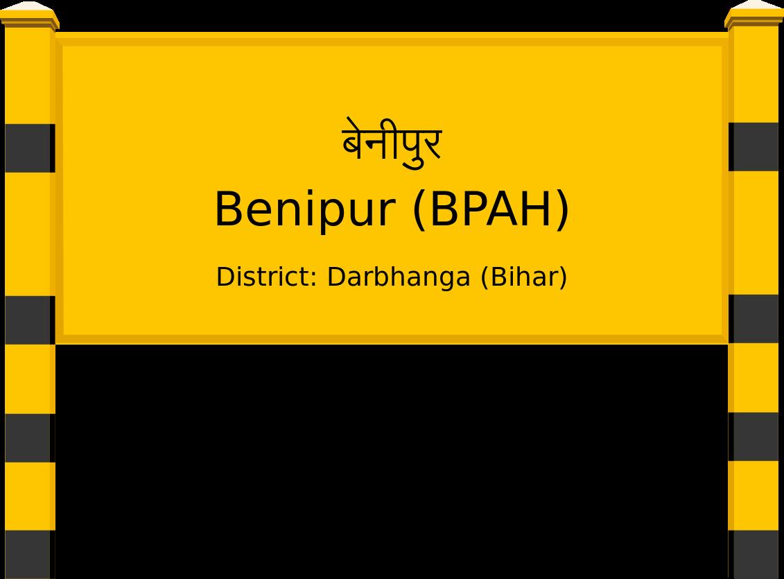 Benipur (BPAH) Railway Station