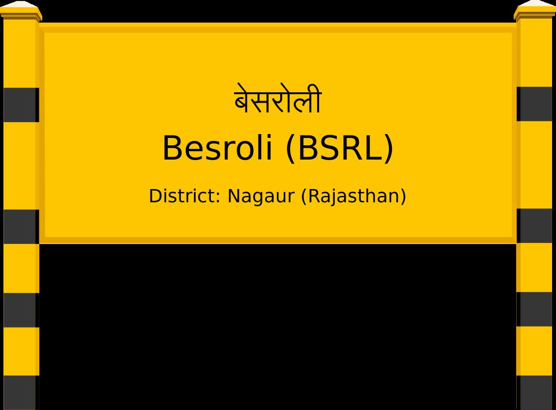 Besroli (BSRL) Railway Station