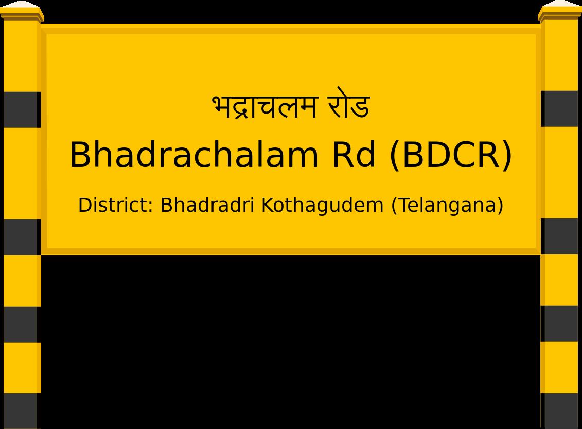 Bhadrachalam Rd (BDCR) Railway Station