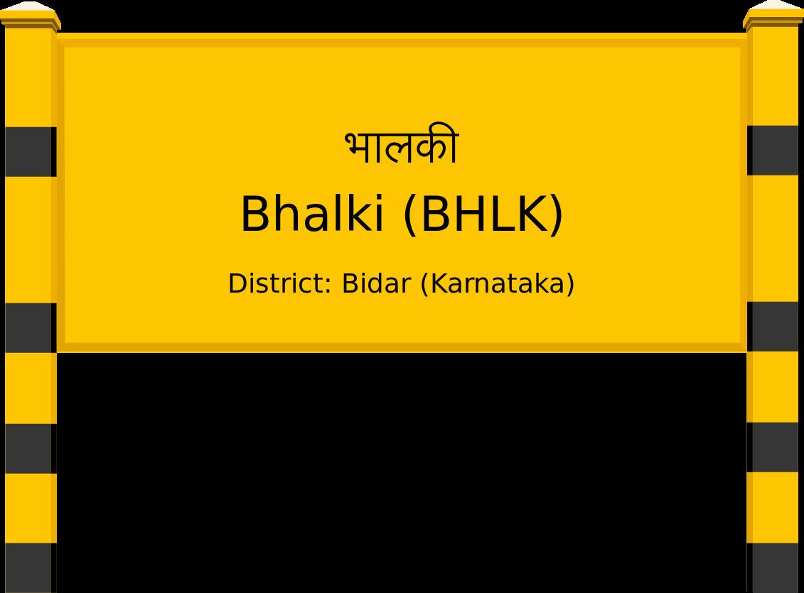 Bhalki (BHLK) Railway Station
