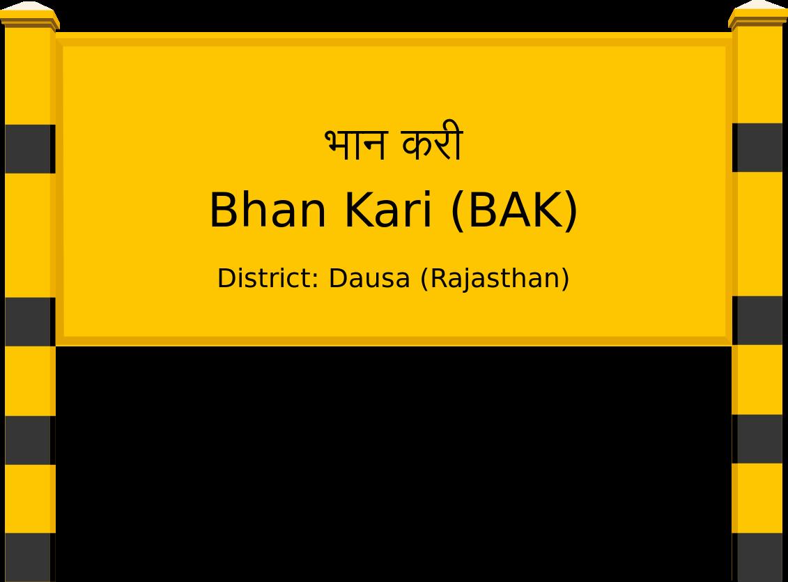 Bhan Kari (BAK) Railway Station