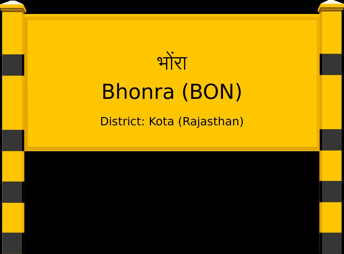 Bhonra (BON) Railway Station