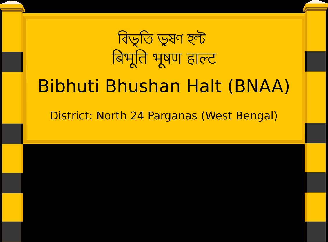 Bibhuti Bhushan Halt (BNAA) Railway Station