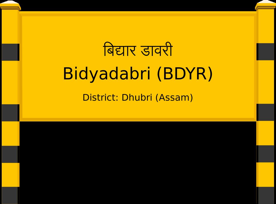Bidyadabri (BDYR) Railway Station