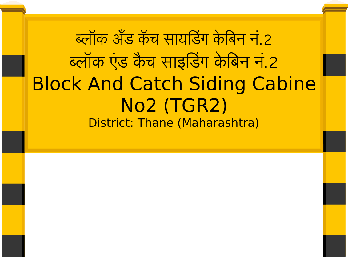 Block And Catch Siding Cabine No2 (TGR2) Railway Station