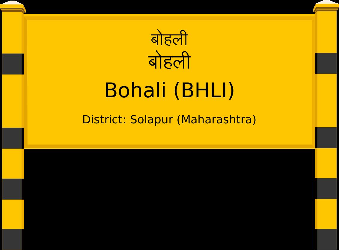 Bohali (BHLI) Railway Station