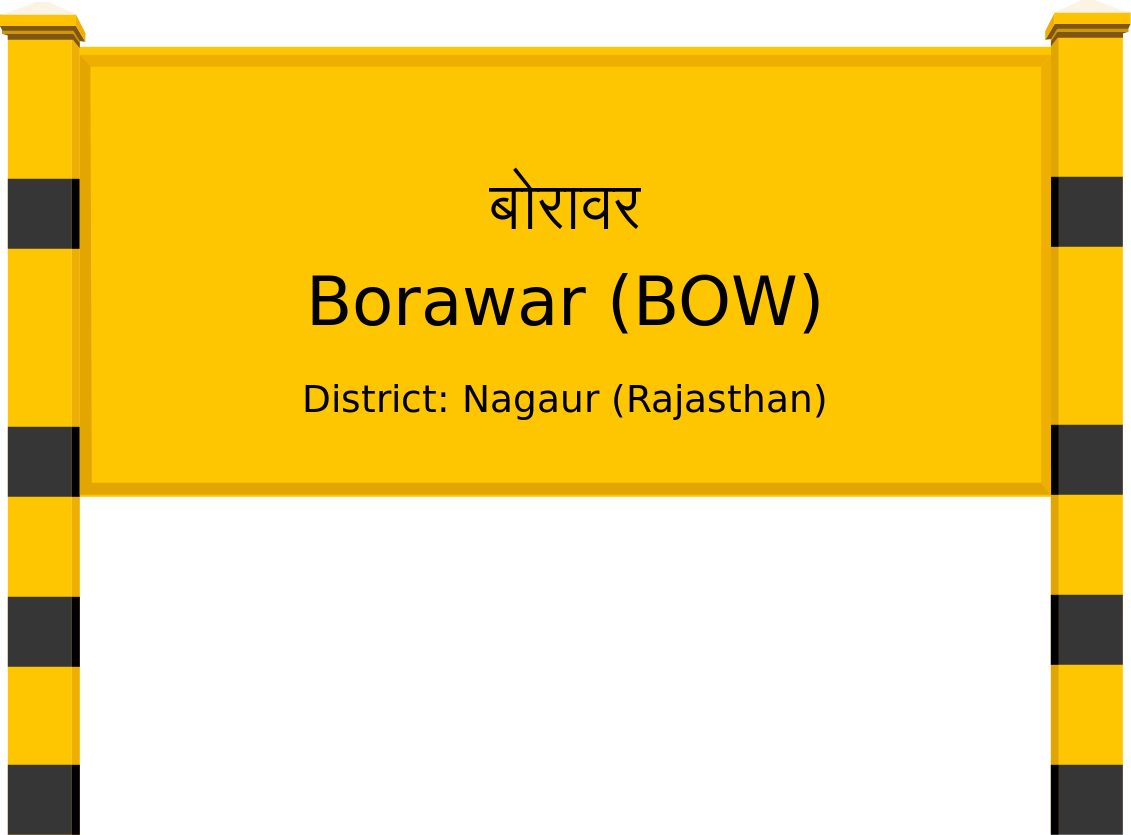 Borawar (BOW) Railway Station