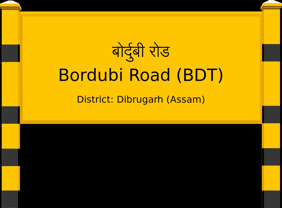 Bordubi Road (BDT) Railway Station
