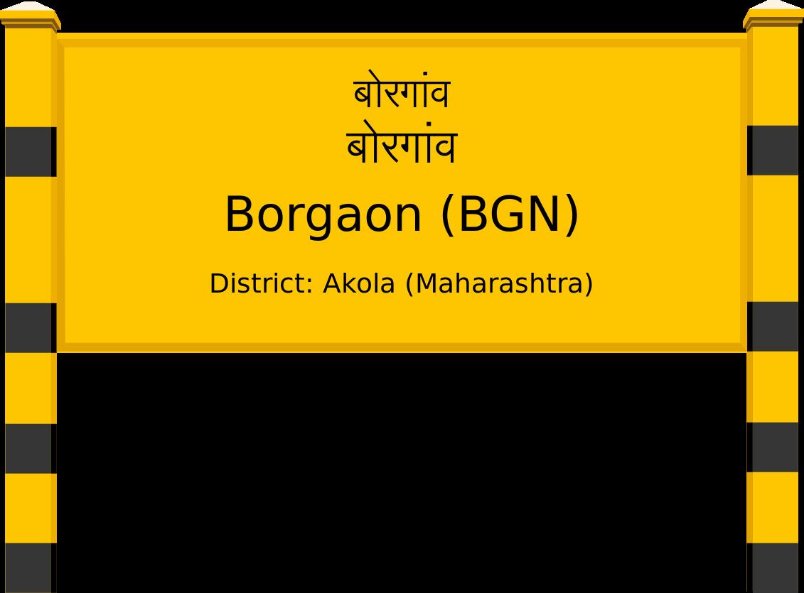 Borgaon (BGN) Railway Station