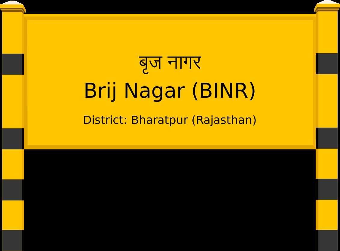 Brij Nagar (BINR) Railway Station