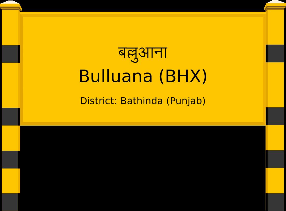 Bulluana (BHX) Railway Station