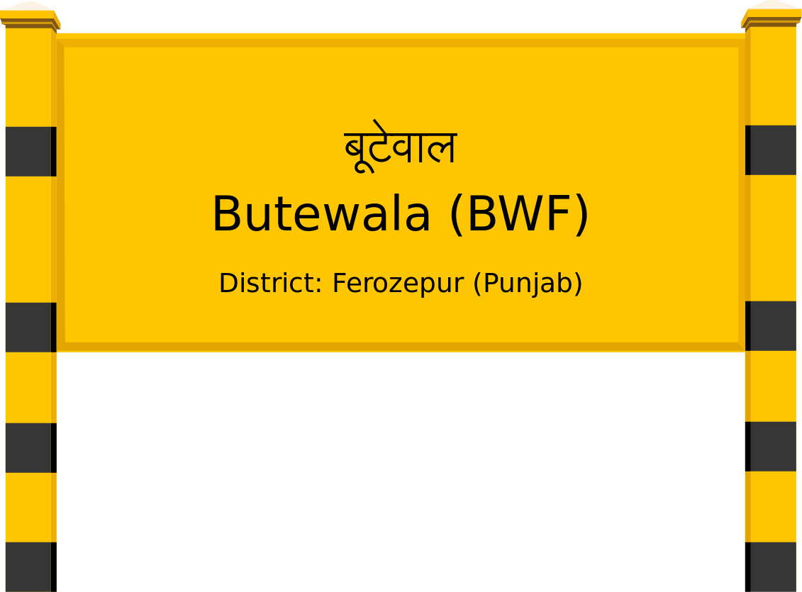 Butewala (BWF) Railway Station