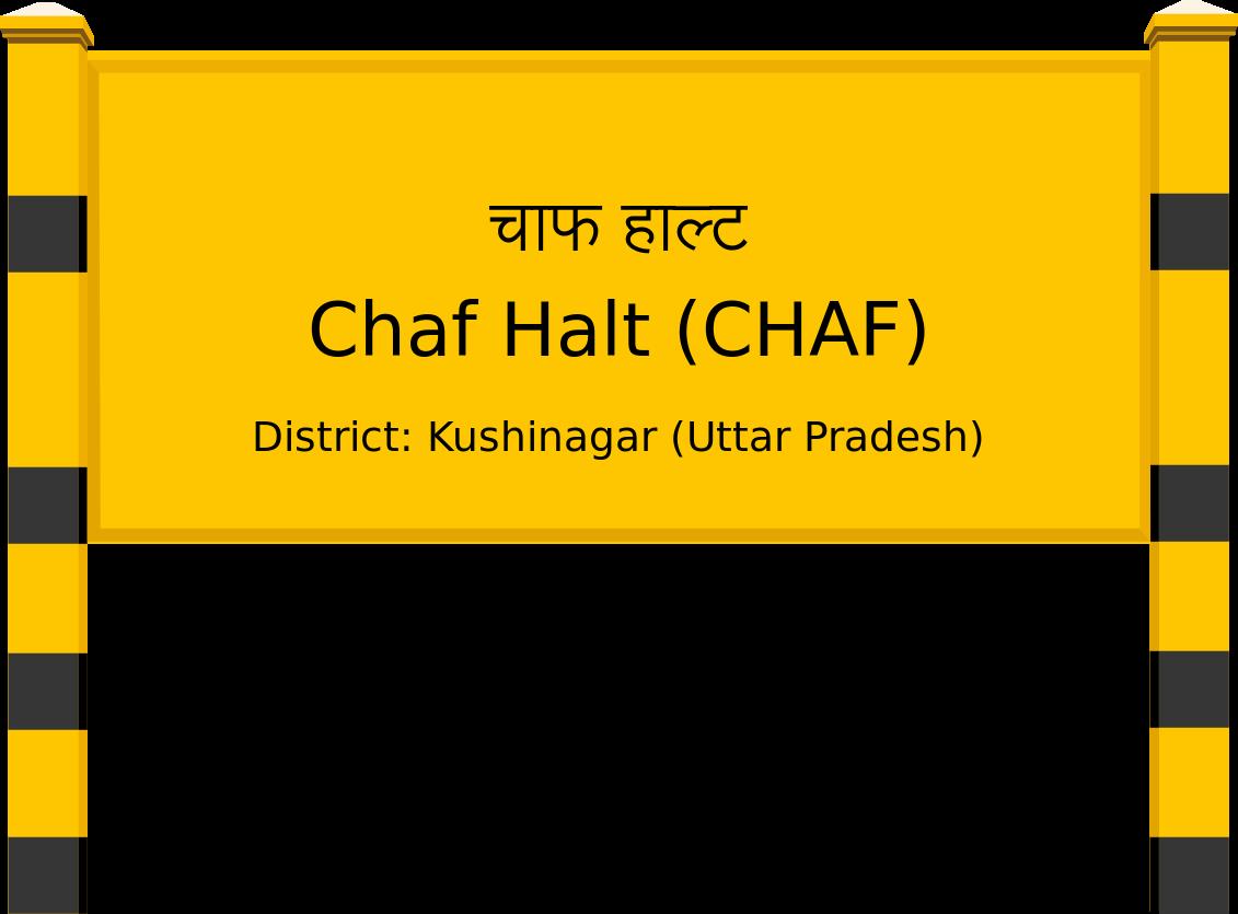 Chaf Halt (CHAF) Railway Station