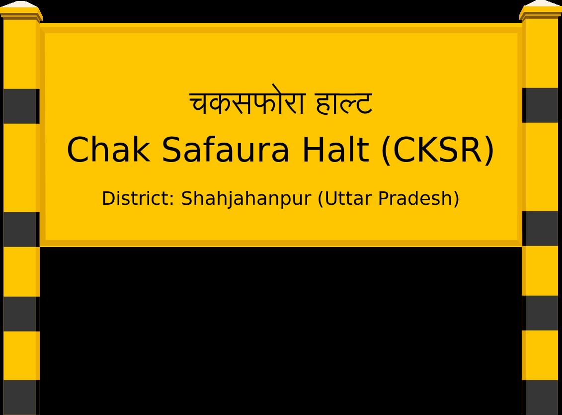 Chak Safaura Halt (CKSR) Railway Station