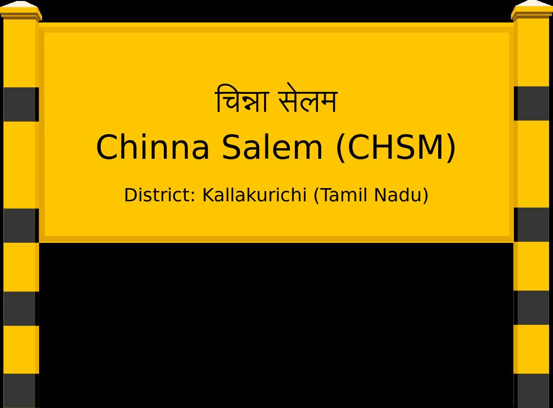 Chinna Salem (CHSM) Railway Station