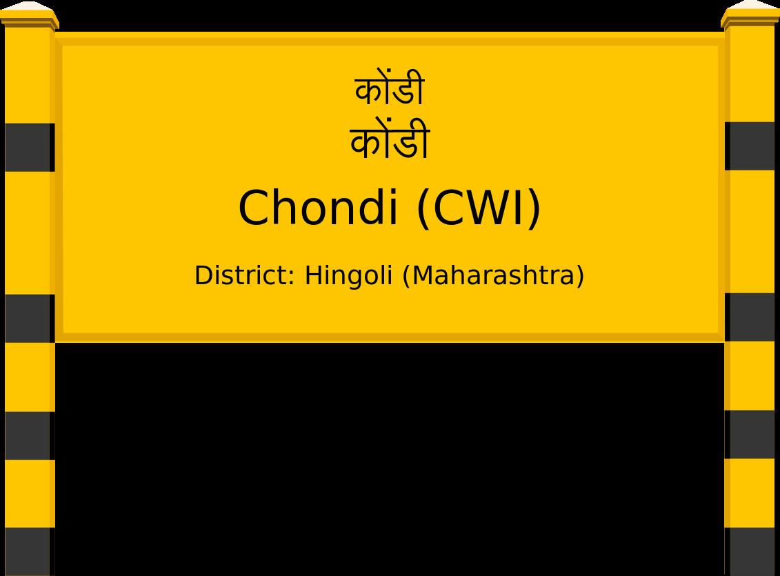 Chondi (CWI) Railway Station