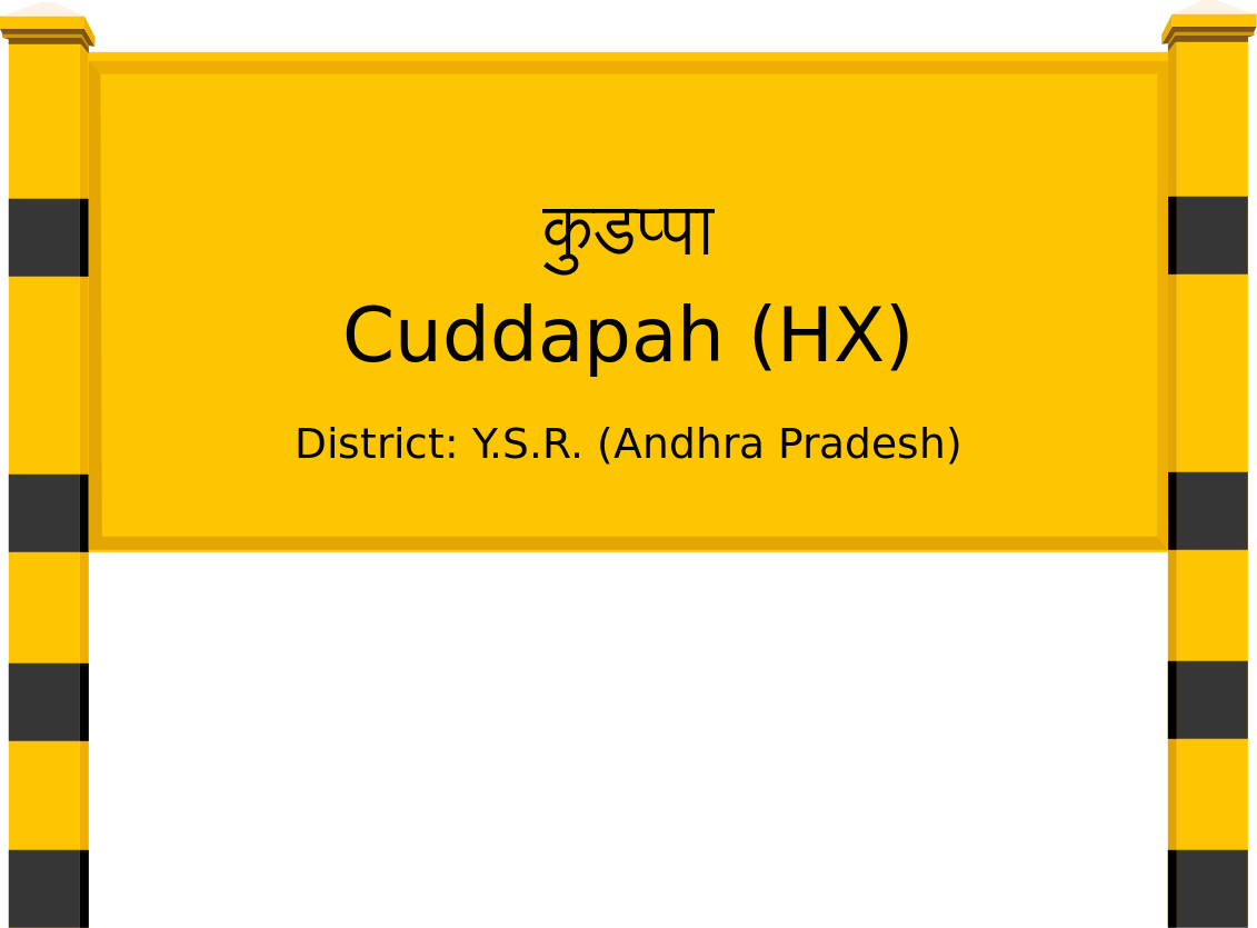 Cuddapah (HX) Railway Station