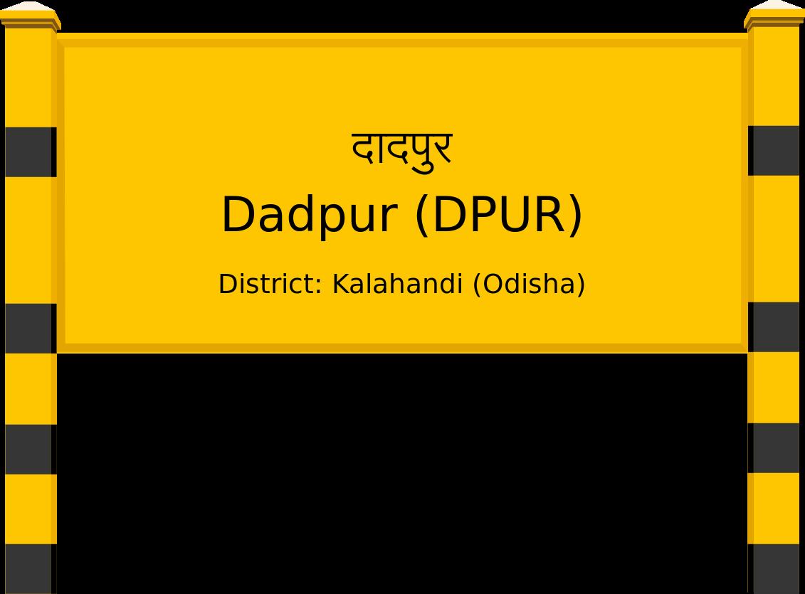 Dadpur (DPUR) Railway Station