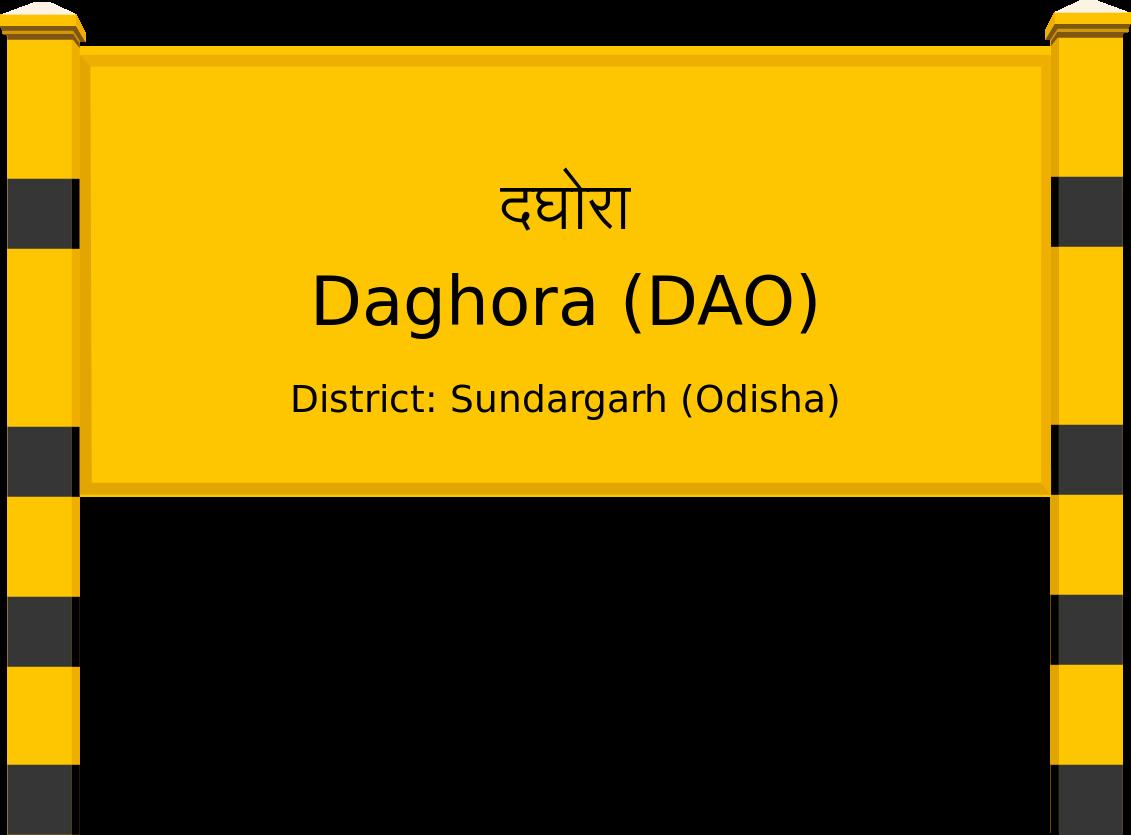 Daghora (DAO) Railway Station