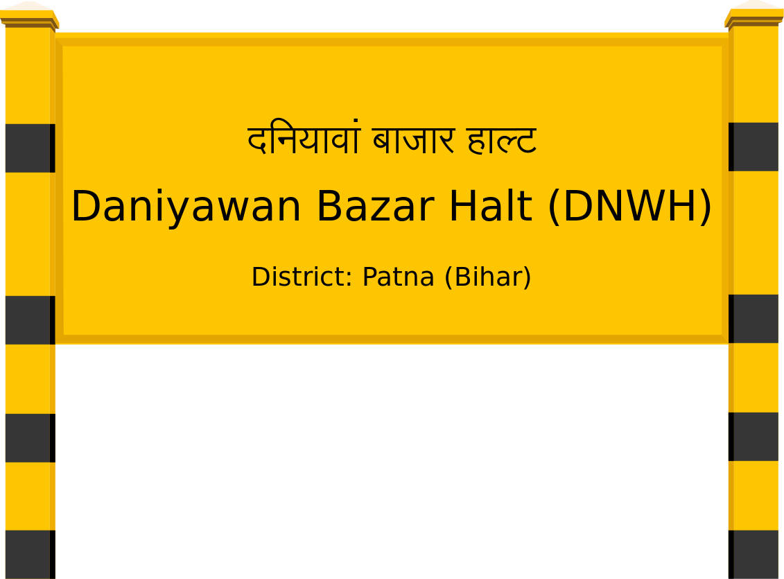 Daniyawan Bazar Halt (DNWH) Railway Station