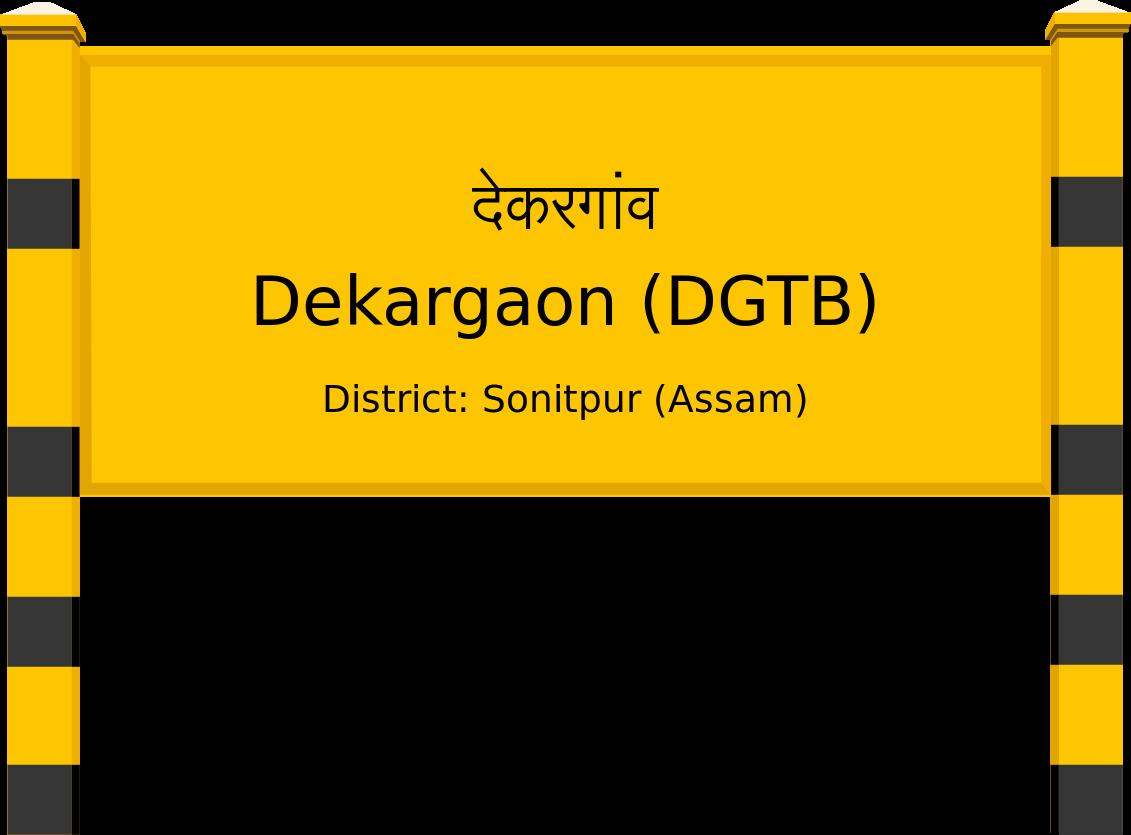 Dekargaon (DGTB) Railway Station